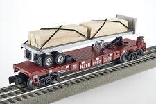 Lot 4145 Lionel Chariot à plate-forme avec 30 holzstämmen (Flatcar With Wood cravates), neuf dans sa boîte