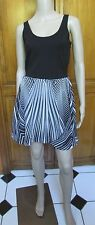 Buffalo David Bitton Black & White Sleeveless Dress SZ S NWT MSRP $79