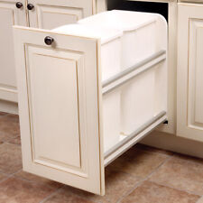 Kv Usc12-2-27wh Double 27qt White Waste Bin Pullout, PartNo Usc12-2-27Wh, by Kna