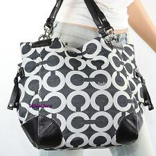 NWT Coach Set Peyton Op Art Signature Shoulder Bag Tote & Wallet 14573 43464