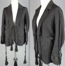 Vtg Women's 1910s 1920s Edwardian Era Navy Wool Twill Jacket 10s 20s #1908
