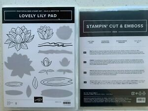 Stampin Up photopolymer stamp set 'Lovely Lily Pad' & coordinating Lily Pad dies