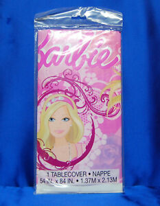Barbie Tablecover Modern Barbie Tablecloth Free Next Day SHIP
