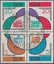 DDR Zusammendruck 901-04 gestempelt (Weltfestspiele) (P-389)