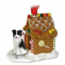 BORDER COLLIE Dog Ginger Bread House Christmas ORNAMENT
