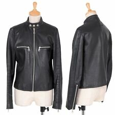 Jean Paul GAULTIER FEMME Lamb leather Jacket Size 40(K-32331)
