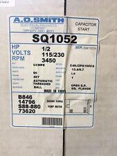 A.O. Smith SQ1052 0.5HP 115/230V Square Flange Motor