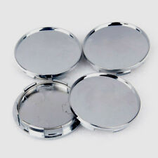 4X 68mm Universal Car Wheel Center Hub Caps Covers Set Blank Plating ABS Silver