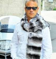 Men's Luxury fur scarf Pelz Schal Chinchilla pelliccia cincilla sciarpa écharpe