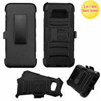 Samsung GALAXY S8 / Plus Clip Holster Case HYBRID Armor Rubber Shockproof Cover