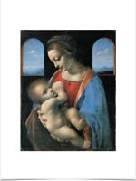 LEONARDO DA VINCI MADONNA LITTA BIG BORDERS LIMITED EDITION ART PRINT 18X24 baby