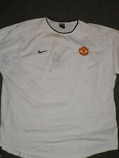 Manchester United Training/T-Shirt Signed By Jordi Cruyff