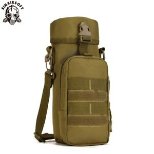 Military Molle Tactical Kettle Bags Water Pouch Carry Case Outdoor Bottle Holder