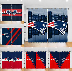 New England Patriots Thermal Blackout Curtains 2PCS Living Room Window Drapes