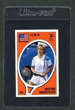 1980s Panini Martina Navratilova 192 & Sregio Domini 20 NM Sticker/Card Rare