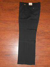 Mens Authentic Farah Premium Master Weave Black 34x30 Dress Pants Chinos Slacks!