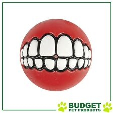Rogz Grinz Ball Red Medium For Dogs 64mm