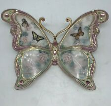 Jewels Of Nature Enchanted Wings Plate #3 Lena Liu Butterfly Floral Bradford Exc
