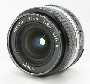 [Excellent Nikon Ai-s Ais Nikkor 20mm F/3.5 Wide Angle MF Lens from Japan