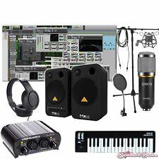 Home Recording Bundle Studio Package Midi 32 Behringer Art Software
