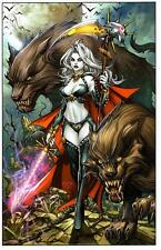 BRIAN PULIDO SIGNED LADY DEATH OBLIVION KISS HARDCOVER EDITION ART PRINT