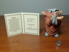 The World of Krystonia - Shigger Figurine with S&N (#829) Description Card
