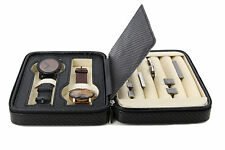 Decorebay High class Cufflink Case & Ring Storage Organizer Men's Jewelry Box