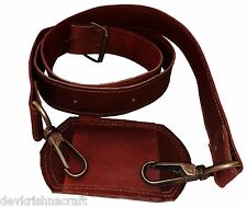 """DKC 60"""" Leather Replacement Adjustable Shoulder Strap with Metal Hooks for Bags"""