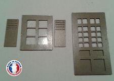 FEN01-HO-Lot de 5 portes fenêtres et 5 fenêtres avec volet, version droite
