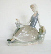 Lladro Porcelain Figurine of Woman with Dove in Original Box
