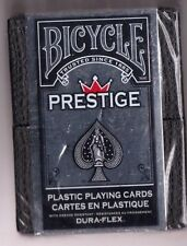 NEW DECK OF RARE  BICYCLE PRESTIGE PLASTIC COATED PLAYING CARDS .