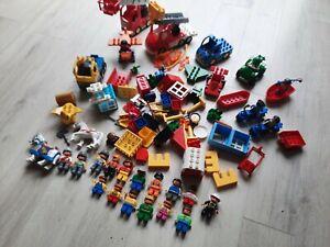 Enorme Lot De Lego Duplo briques nombreux véhicules et personnages