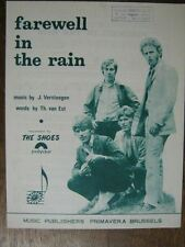 PARTITION MUSICALE BELGE THE SHOES FAREWELL IN THE RAIN