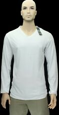 NEW$BEAUT JIL SANDER BEAUTIFUL LONG SLEEVES WHITE V NECK 100% AUTH T SHIRT S