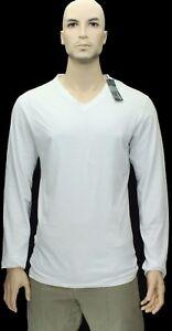 NEW$BEAUT JIL SANDER BEAUTIFUL LONG SLEEVES WHITE V NECK 100% AUTH T SHIRT S