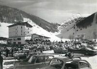 Cartolina di Brentonico, automobili e hotel - Trento