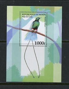 M210  Benin 1996  #896   birds  Bird of Paradise    sheet     MNH