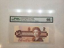 Canada 1986 $2 PMG GEM UNC66 EPQ