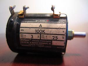 Beckman Helipot A 100K Precision Potentiometer