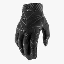 2019 100% RIDEFIT MOTOCROSS MX MTB BIKE GLOVES - BLACK / WHITE