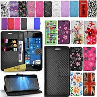 For Microsoft Lumia 550 - Wallet Leather Case Book Cover + Screen Protector