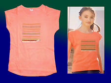 oranges Girl shirt T-shirt with Sew on patches Size 140 cotton new