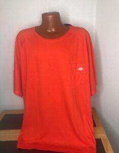NWT Mens Dickies Performance Temp-IQ S/S T-Shirt 5XL XXXXXL - Orange - Polyester