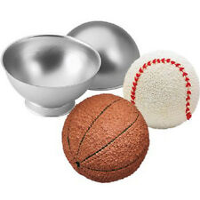 Sports Ball 3-D Cake Pan Basketball Soccer 3D Stand-up Mold Tin Sphere Cream