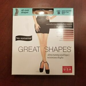 No Nonsense Great Shapes Pantyhose In Beige Mist Light  D  Up To  6' & 260 Lbs.