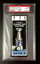 WAYNE GRETZKY SIGNED 1987 STANLEY CUP GAME 1 TICKET STUB EDMONTON OILERS PSA