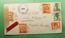 DR WHO 1948 AUSTRIA VIENNA TO SWITZERLAND CENSORED  g39657