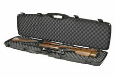 Double Gun Case Two Rifle Shotgun Heavy Duty Hard Protect Firearms Padded Lock