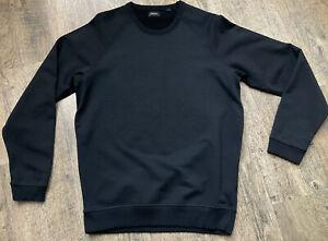 Diesel Black Embossed Print Detail Black Sweatshirt Jumper Mens Size L Vgc #A