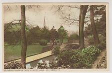 Dorset postcard - Pleasure Gardens from Invalids Walk, Bournemouth